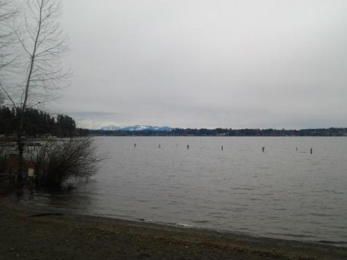 Pilchuck Mountains from Lake Stevens, WA